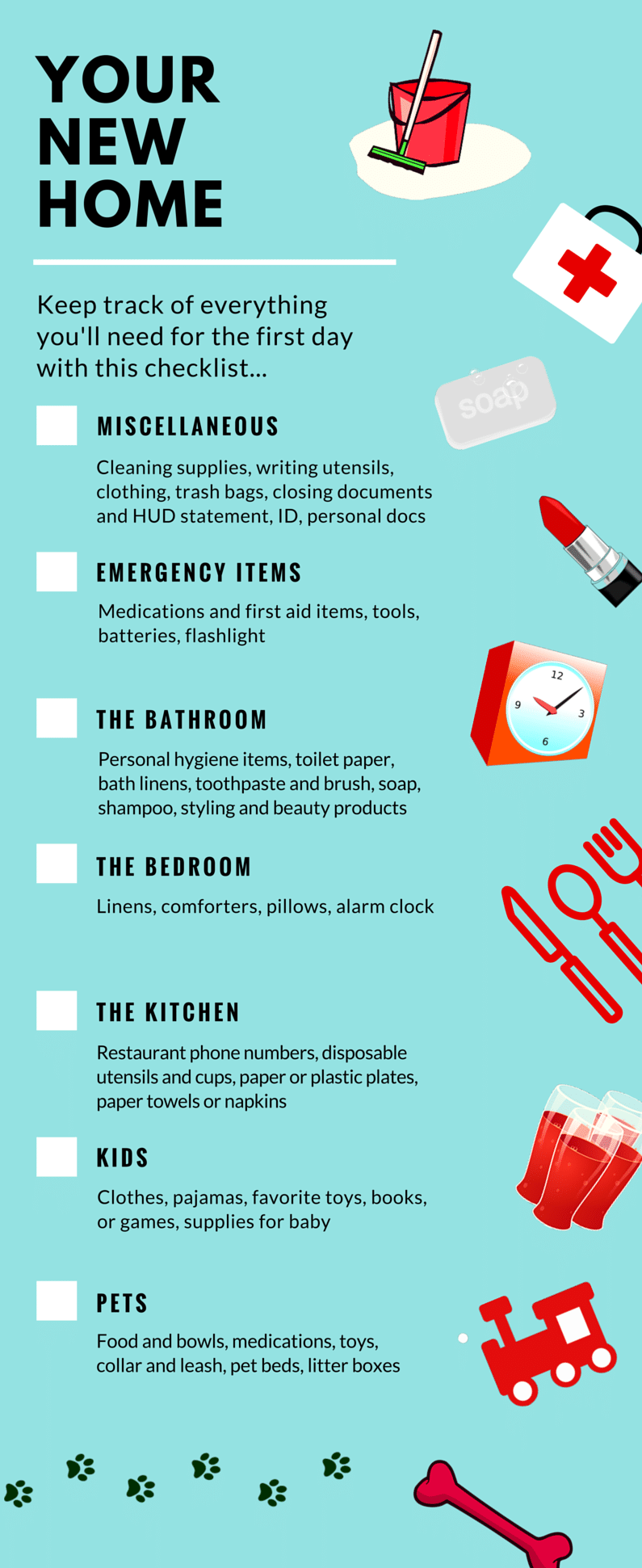 First Night In Your New Home Infographic